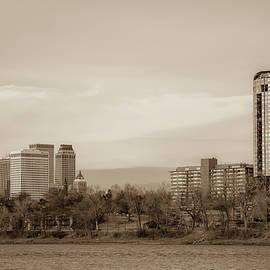 Gregory Ballos - University Tower and Downtown Tulsa Skyline Sepia