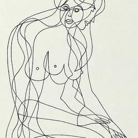 Untitled  Nude Seated Female Figure - Manuel Bennett