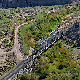 Up Tracks Cross The Mojave River by Jim Thompson