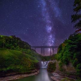 Upper Falls At Night by Mark Papke