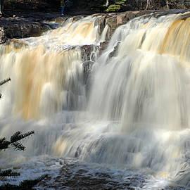 Upper Falls Gooseberry River by Larry Ricker