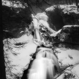 Upper Kent Falls Black and White by Bill Wakeley
