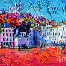Mona Edulesco - Urban Impression - Bellecour Square In Lyon France