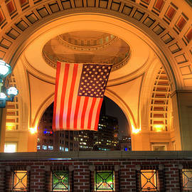 Joann Vitali - US Flag - Boston Harbor Hotel