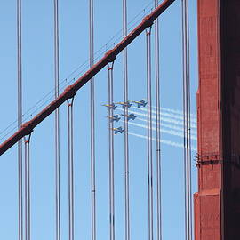 Wingsdomain Art and Photography - US Navy Blue Angels Beyond The San Francisco Golden Gate Bridge - 5D18956