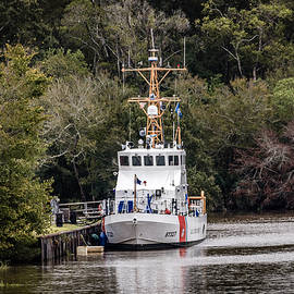 Uscgc Pelican Moored 1 by Gregory Daley  MPSA