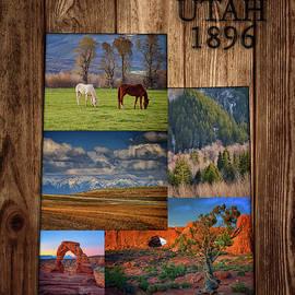Utah State Map Collage by Rick Berk