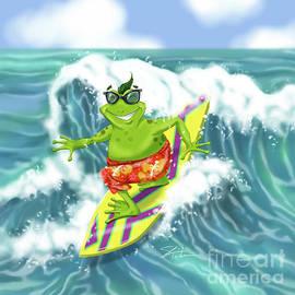Vacation Surfing Frog by Shari Warren