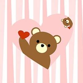 Kourai - Valentine bear pink