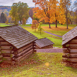 Valley Forge Huts In Fall by Rima Biswas