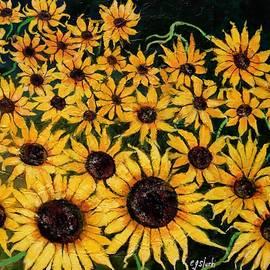 Van Gogh Sunflowers by Carole Sluski