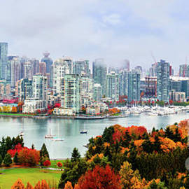 Vancouver in the fall - Panorama by Viktor Birkus