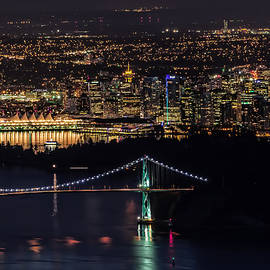 Vancouver Night From Cypress Mountain by Gary Karlsen
