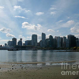 Vancouver Skyline 2015 at Stanley Park II by Connie Fox