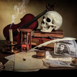 Vanitas with Books - Violin - Kalf by Levin Rodriguez