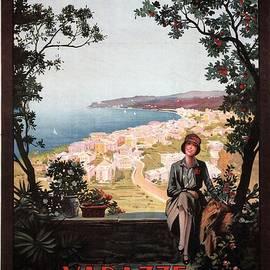 Varazze, Italy - Stazione Balneo Climatica - Retro travel Poster - Vintage Poster - Studio Grafiikka