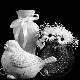 Sandra Foster - Vase, Bird And Daisies