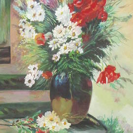 A Vase of Wild Flowers  by Farideh Haghshenas