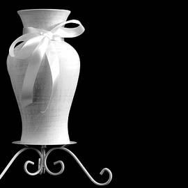 Vase With White Bow