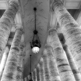 Vatican Columns BW by Mike Nellums