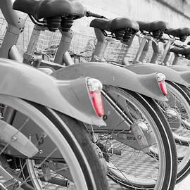 Velib City Bikes Paris by Helen Northcott