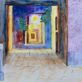 Venice Alley At Night by Patricia Beebe