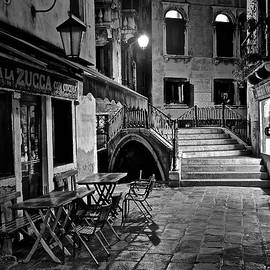 Frozen in Time Fine Art Photography - Venice Black and white Night