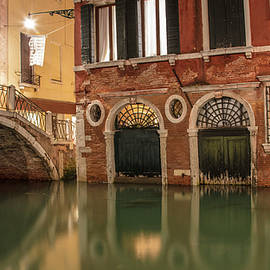 Venice Canal In Evening  by John McGraw