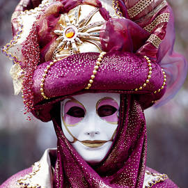 Venice Carnival In gold and red by Cyril Jayant