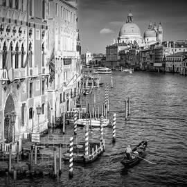 VENICE Grand Canal and Santa Maria della Salute - Monochrome - Melanie Viola