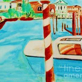 Venice travel by boat by Stanley Morganstein