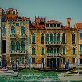 Venice Vintage Buildings by Loretta S