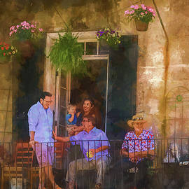 Veranda Bleue by Jim Cook