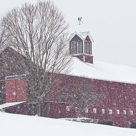 Vermont Barn In Snowstorm by Alan L Graham