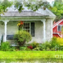Vermont Farm House Kent Corner Watercolor by Edward Fielding