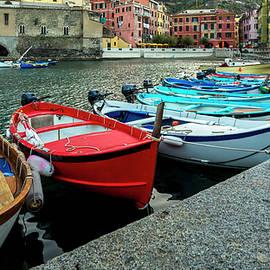 Vernazza Boats by Lindley Johnson