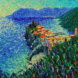 Ana Maria Edulescu - Vernazza Cinque Terre Italy Modern Impressionist Palette Knife Oil Painting By Ana Maria Edulescu