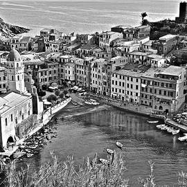 Vernazza Grayscale by Frozen in Time Fine Art Photography
