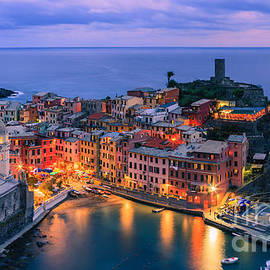 Vernazza is one of the five towns that make up the Cinque Terre  by Henk Meijer Photography