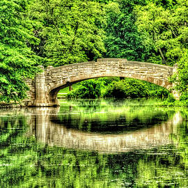 Verona Park bridge in spring by Geraldine Scull