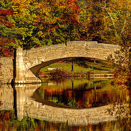 Verona Park Bridge in Verona NJ  by Geraldine Scull