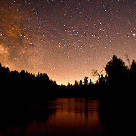 AuSable River and the Milky Way by Michael Peychich