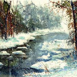 Very Cold Winter watercolor - Suzann