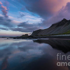 Vestrahorn Beach Skies Reflected - Mike Reid