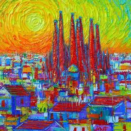 Ana Maria Edulescu - VIBRANT BARCELONA modern impressionist abstract city impasto knife oil painting Ana Maria Edulescu