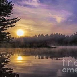 Jan Mulherin - Vibrant Sunrise on the Androscoggin River