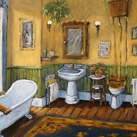 Richard T Pranke - Victorian Bathroom by Prankearts