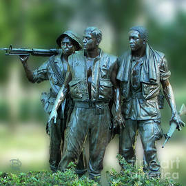 Vietnam Memorial Soldiers by Daniel Hebard
