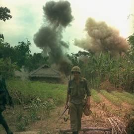 Everett - Vietnam War. Us Marines Walk Away