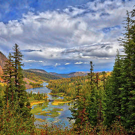 View From the Top of Mammoth's Twin Lakes by Lynn Bauer